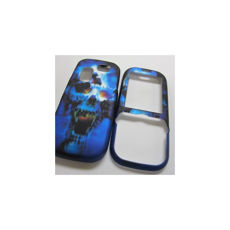 Rubberized Hard Phone Cases Covers Skins Snap on Faceplate Protector for Samsung Sgh t404g Straight Talk Net10 Tracfone  or Gravity 2 Ii Sgh t469 T.mobile Slide Skull