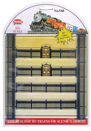 Model Power HO Scale Black Iron Fences