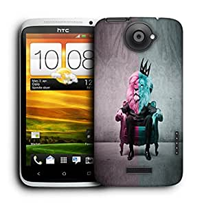 Snoogg Lion King Designer Protective Back Case Cover For HTC ONE X