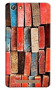 Omnam Pattern Made Of Woods Printed Designer Back Cover Case For Gionee Marathon M5 Lite