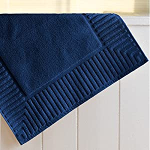 Amazon Com Zenith Bath Mat Set Of 3 Color Cobalt Blue