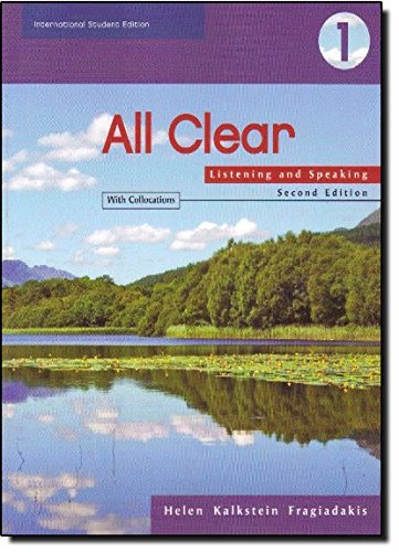 ALL CLEAR: Listening And Speaking - Book 1 - Text ISE