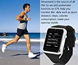 CNPGD® All-in-1 Smartwatch+GSM Watch Cell Phone, with FM, MP3/4, Voice recorder (Black)