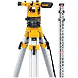 DEWALT DW092PK 20X Transit Level-Pack age with Tripod, Rod, and Carrying Case