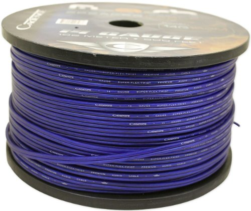 Cadence 14G152M-Blue 14 Gauge 15 Foot Blue Speaker Wire Spool (Cut From A 500 Foot Spool)