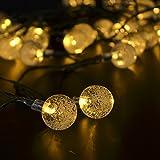 CrazyFire 20球4.8mソーラー LEDクリスマスイルミネーションライト (気泡, イエロー)