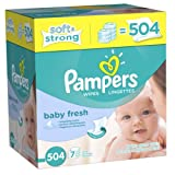 Pampers Baby Fresh Scented Wipes - 77 Count TubBaby Fresh baby Wipes clean gently like a baby's washcloth. Thousands of soft cleansing buds, plus pure water and pleasant baby powder scent leave your baby's skin feeling perfectly clean.