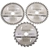 Silverline 690459 3 lames TCT pour scie circulaire 210 x 30 mm - bagues de 25 et 16 mm
