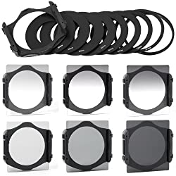 XCSource 6pcs ND2 ND4 ND8 Gradual ND2 4 8 Filter Set + 9pcs Ring Adapter for Cokin P series LF006