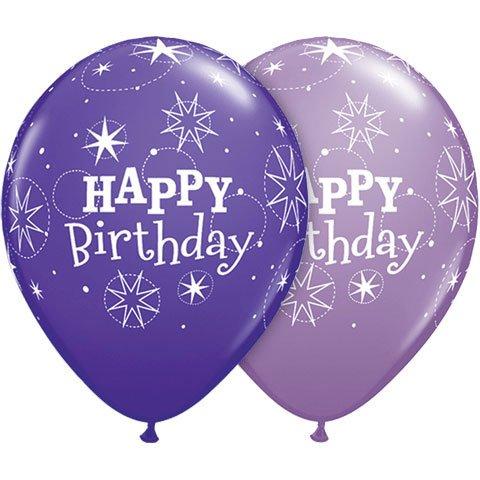 "11"" Birthday Sparkle Violet &"