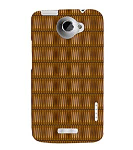 Sine Wave Pattern 3D Hard Polycarbonate Designer Back Case Cover for HTC One X