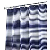 InterDesign Enzo Shower Curtain - Navy/White