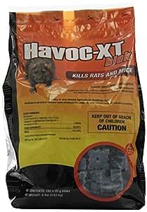 NEOGEN RODENTICIDE Havoc XT Rat Bait Block Pouch, 8-Pound