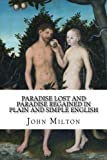 img - for Paradise Lost and Paradise Regained In Plain and Simple English: A Modern Translation and the Original Version book / textbook / text book