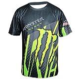 モンスターエナジー Monster Energy バイク オートバイ 服 スウェット 半袖Tシャツ 速乾 レーシングスーツ (XL)