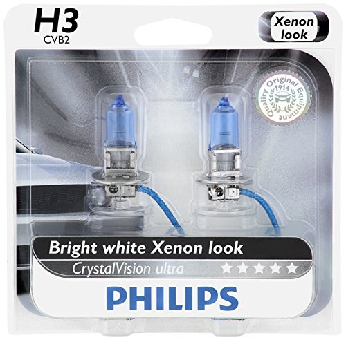 Philips H3 CrystalVision Ultra Upgrade Headlight Bulb, 2 Pack (H3 Bulb White compare prices)