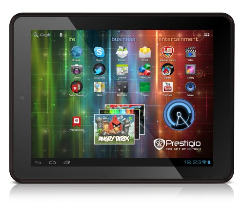 Prestigio MultiPad 8.0 Pro Duo 20,3 cm (8 Zoll) Tablet-PC (ARM Cortex A9, Dual-Core, 1,5GHz, 1GB RAM, 8GB HDD, Android 4.0) schwarz