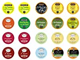 Crazy Cups Decaf Tea Sampler, K-Cup Portion Pack for Keurig K-Cup Brewers, Gift pack (Pack of 20)