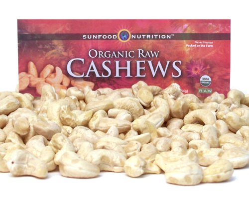 Sunfood Cashews, Whole (Raw, Organic), 16-Ounce Bag