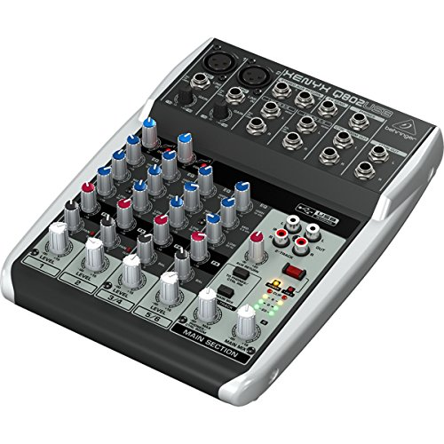 Behringer Q802Usb | Xenyx Mixer Audio Interface front-303009