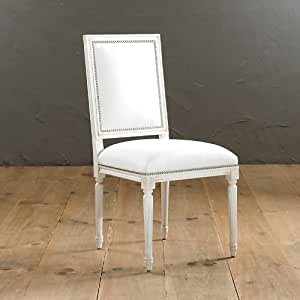 Square Back Louis Xvi Side Chair Pewter