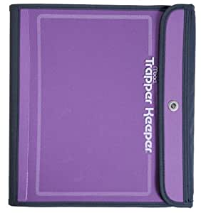 Mead trapper keeper sewn binder 3 ring binder 1 5 inch purple 72171 personal for Trapper keeper 2 sewn binder with exterior storage