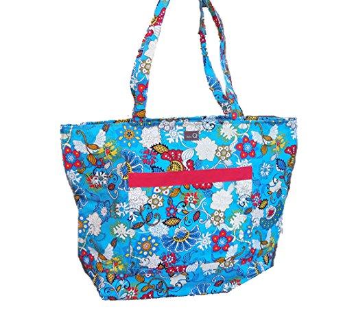 "della Q Willa Shoulder Knitting Bag (19.5"" W x 15"" H x 6"" D) 424-1-101 by della Q"