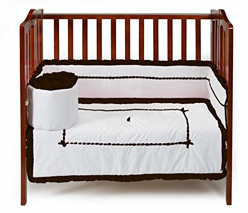 Baby Doll Unique Hotel Style Port-a-Crib Bedding Set, Chocolate - 1