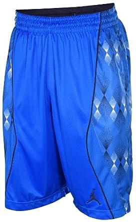 Jordan Mens Nike Franklin Street Knit Jumpman Basketball Shorts-Blue by Jordan