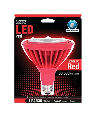 Feit Led Reflector Bulb Par38 5 W Red Medium Base (E26) Par38/R/Ledg5