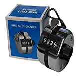4 Digit Manual Tally Counter Hand Held Counter Mechanical Click Counter 1pcs
