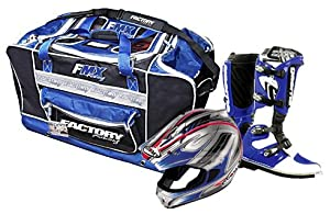MX Gear Bag Blue/Silver - Factory Racing