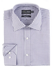 Luxury Pure Cotton Non-Iron Checked Shirt