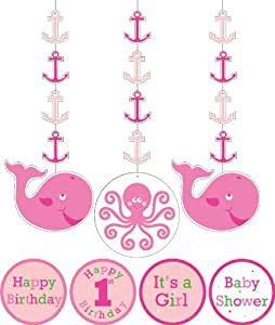 Charmed Celebrations Charmed Celebrations Ocean Preppy Girl Hanging cutouts
