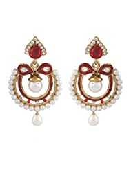 I Jewels Tradtional Gold Plated Elegantly Handcrafted Pair Of Fashion Earrings For Women. - B00N7INIJW