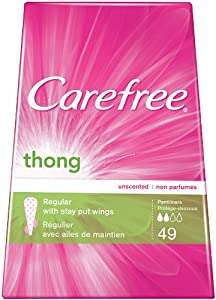 CAREFREE® Thong Pantiliners Unscented 12/49ct