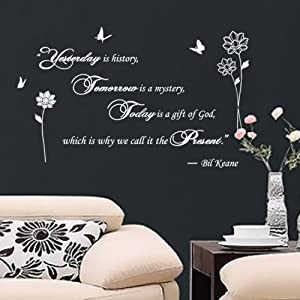 amazon com i lifeuk fancy writing yesterday today wall stickers glorious wall stickers