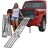"""90"""" Aluminum Folding Loading Ramps for Garden Equipment, Lawn Tractors and ATV"""