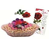 Skylofts Attractive 70pc Chocolate Basket With A Love Card & A Rose