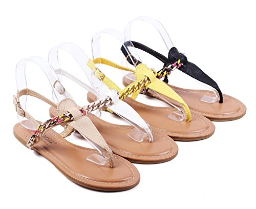 New Casual Chain Style Sexy Ladies Ankle Strap Buckle Womens Sandals Slingbacks New Without Box