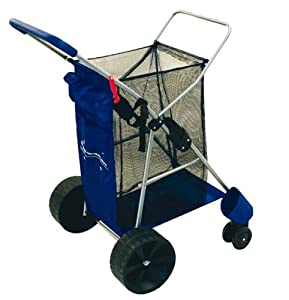 Wonder Wheeler Beach Cart - Easy Roll Ultra Wide Wheels with Silver Mist Frame and... by Rio Brands