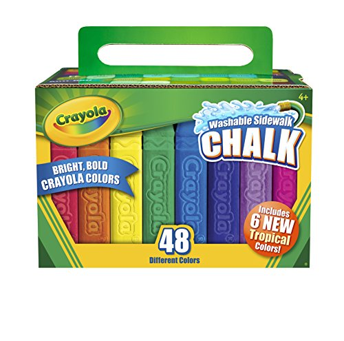 childrens-crayola-box-of-48-sidewalk-washable-anti-roll-bright-coloured-chalks
