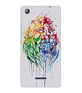 MICROMAX CANVAS 5 LION Back Cover by PRINTSWAG