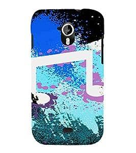 PrintVisa Modern Art Music Design 3D Hard Polycarbonate Designer Back Case Cover for Micromax Canvas HD A116