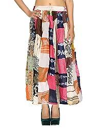 Rajrang Indian Designs Women Printed Floral Cotton Skirt