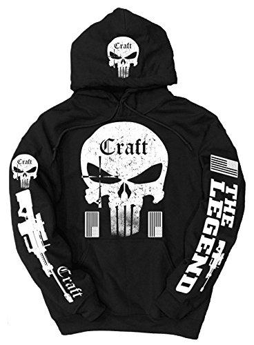 Craft -  Felpa con cappuccio  - Uomo Black X-Large