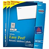 3 PACK: Avery Easy Peel Return Address Labels for Inkjet Printers, 0.5 x 1.75 Inches, White, Pack of 2000 (8167)