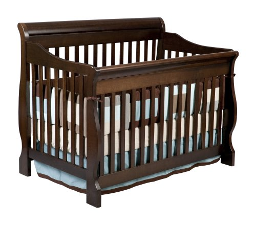 Delta Children Canton 4-in-1 Convertible Crib, Espresso Cherry