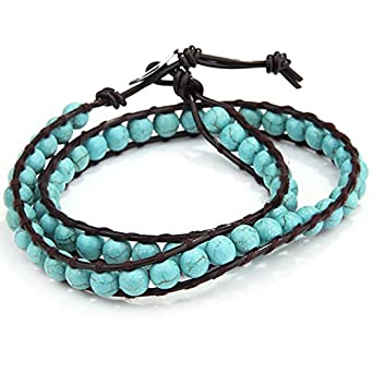 O.R.®(Old Rubin) Bohemia Style Bracelet Turquoise Bracelet- fits all sizes - Women Bead Bracelets Friendship Bracelet Fashion Jewelry Gift