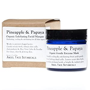 Pineapple and Papaya Organic Gentle Exfoliating Enzyme Mask for All Skin Types 1.2 Oz by Angel Face Botanicals